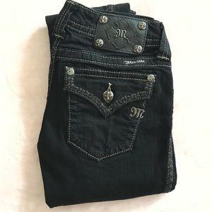 EUC Miss Me Black Skinny Jeans